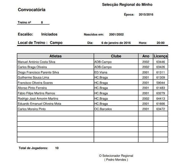 AP MINHO - 8ª CONVOCATÓRIA