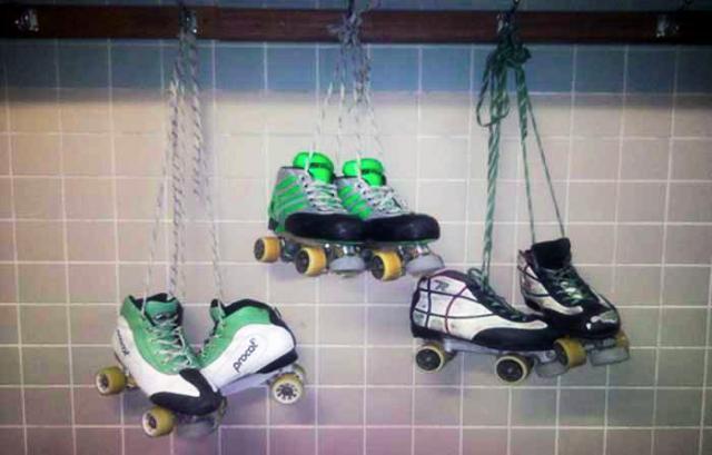 Cedo para pendurar os patins