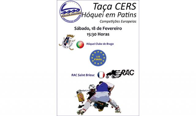 Taça CERS: HC Braga recebe Saint Brieuc