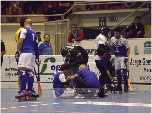 Tiago Jorge atleta do HC Braga com dupla fratura maxilar